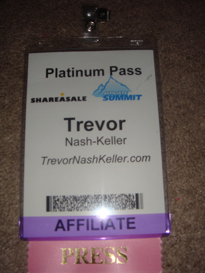 Affiliate Summit Press Pass